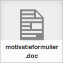 MOTIVATIEFORMULIER INTENSIEVE VERTELTRAINING
